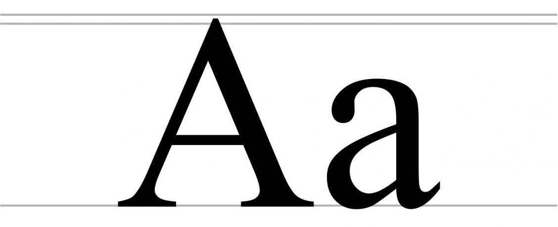 1280px Cyrillic letter A uppercase and lowercase svg